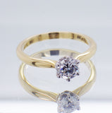 18ct Yellow and White Gold 0.50 carat Diamond Engagement Ring