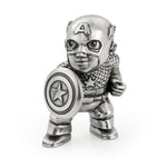 Royal Selangor Pewter MARVEL Captain America First Avenger Mini Figurine Ref 017943R