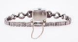 Hamilton 1.40ct Diamond Set & Platinum Vintage Cocktail Watch On Bracelet