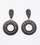 Sterling Silver Drop Marcasite Earrings