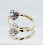 New Ladies 9ct Gold Blue Sapphire and Diamond Halo Style Ring