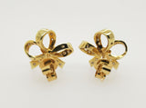 Pre-Owned Ladies Diamond 14ct yellow gold Bow Style Earrings
