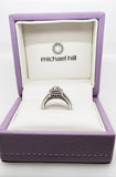 Pre-Owned Ladies 14ct white gold 1.25ct halo diamond engagement ring