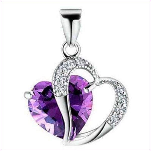 Amethyst Heart Necklace
