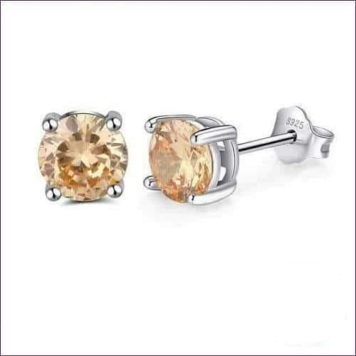 Sterling Silver Birthstone Stud Earrings - Jewelry & Watches Fashion Jewelry Earrings
