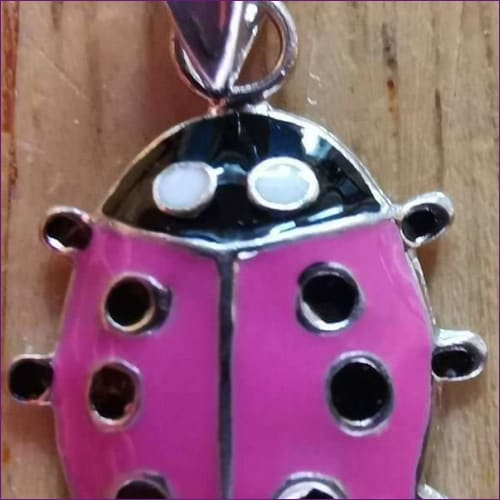 Ladybug Children Silver Pendant - children silver pendants