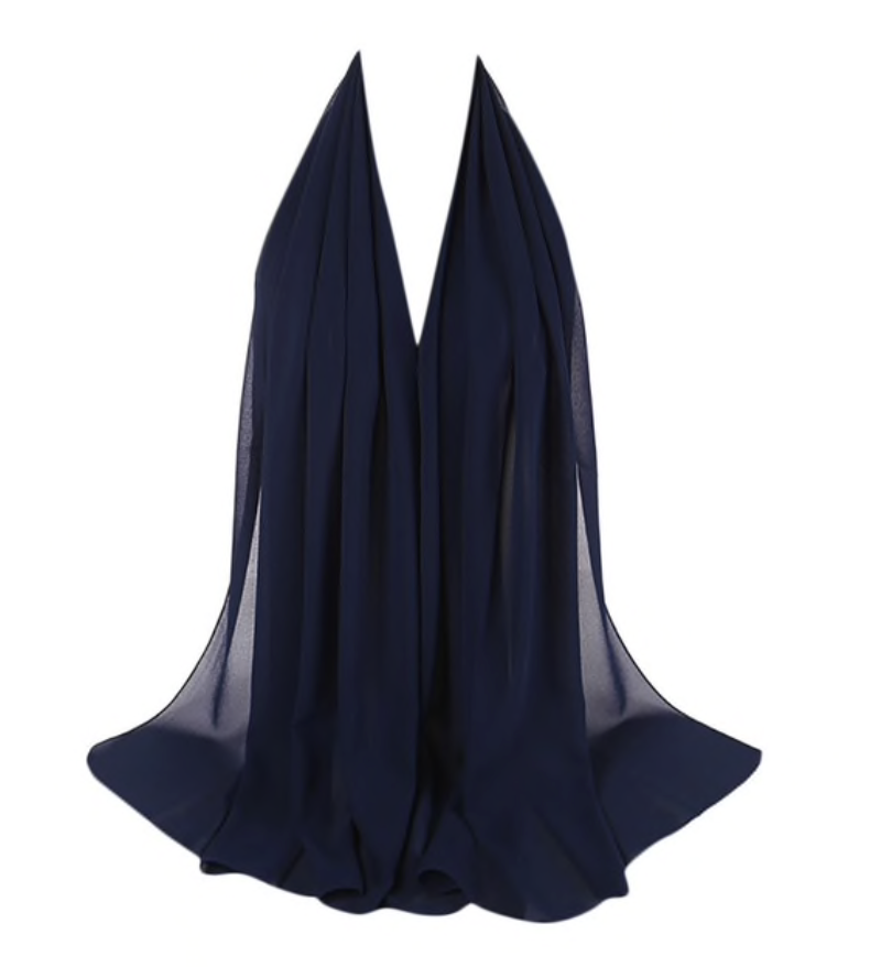 LUXURY CHIFFON HIJAB - NAVY