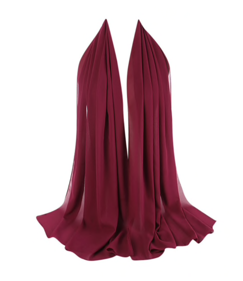 LUXURY CHIFFON HIJAB - BERRY