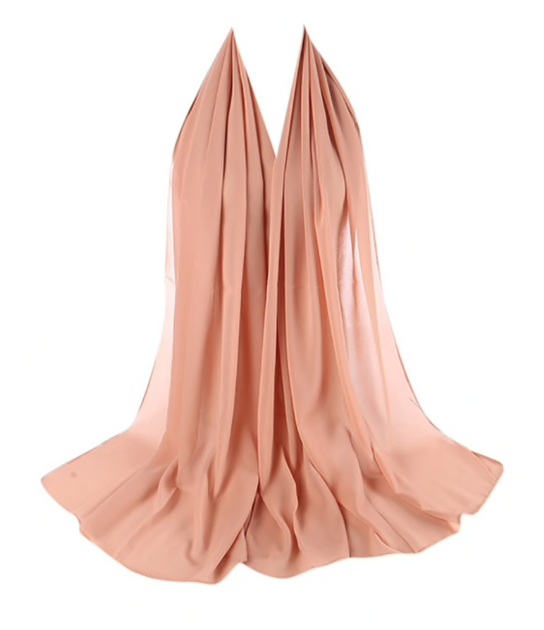 LUXURY CHIFFON HIJAB - NUDE PEACH