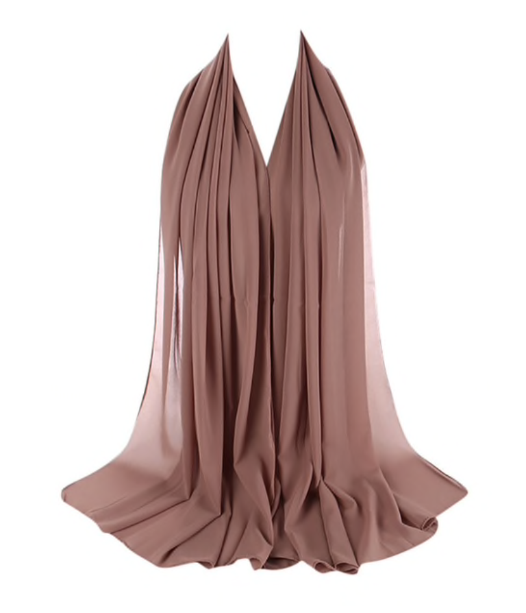 LUXURY CHIFFON HIJAB - BLUSH NUDE