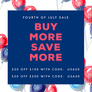 Fourth of July Sale + Important Dates
