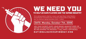 Save The Date - October 7th is National Save Vaping Day