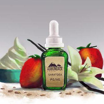 Adirondack Vapor Juice Saratoga | Vanilla Graham Cracker with Strawberries & Cream