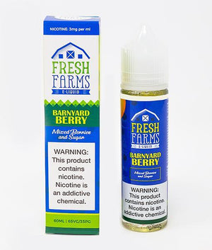 Fresh Farms E-Liquid Juice Barnyard Berry | Strawberries, Raspberries and Blackberries