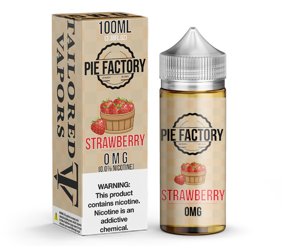 Tailored Vapors Juice Strawberry Pie Factory