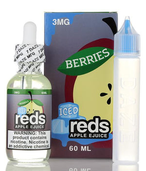 Vape 7 Daze Juice Reds Apple Berries Iced | Apple Juice, Berries, & Menthol