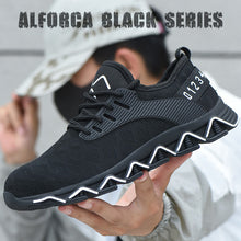 Load image into Gallery viewer, Alforca Black Series Elastic Cushion Breathable Lightweight Mesh Steel Toe Safety Shoes