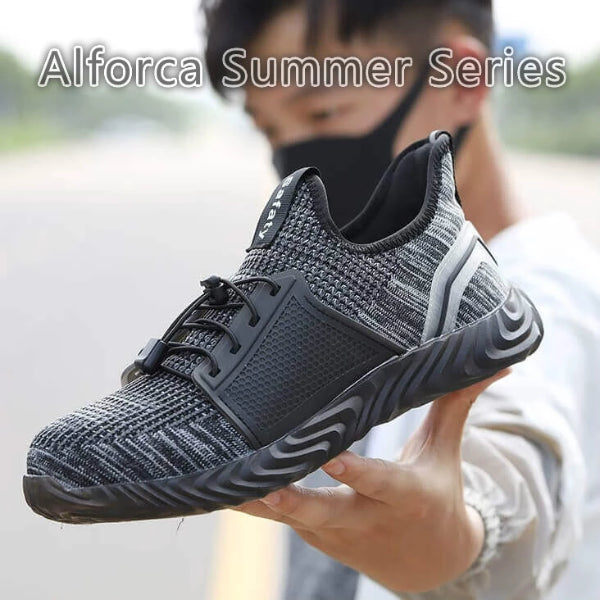 Alforca Summer Series Lock Lace Jelly Steel Toe Safety Shoes US4-US13
