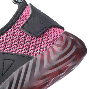 Alforca Pink&Black Breathable Jelly Safety Steel Toe Shoes Cool Summer Series
