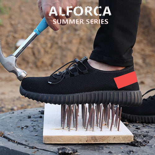 Alforca New Super Light Breathable Steel-toe Sneakers Stylish Safety Shoes