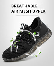 Load image into Gallery viewer, Alforca Cool Summer Series Jelly Ox-tendon Breathable Air Mesh Steel Toe Safety Shoes - Alforca