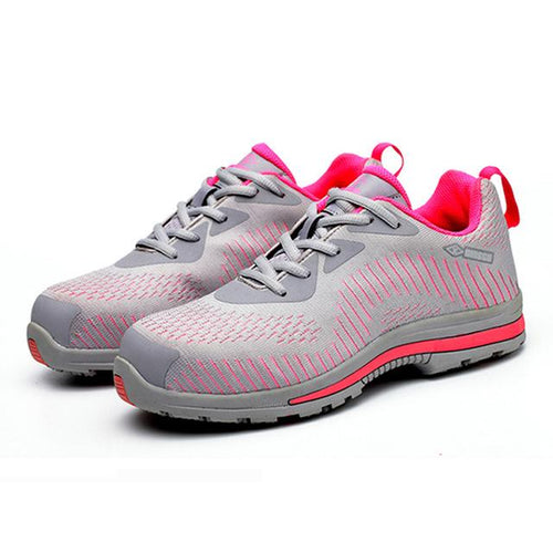 Alforca Pink Lightweight Bulletproof Midsole Anti-puncture Safety Shoes - Alforca
