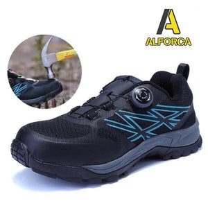 Alforca Auto-Lacing Lightweight Bulletproof Midsole Anti-puncture Safety Shoes - Alforca