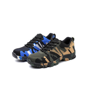 Alforca Lightweight Camouflage Waterproof  Anti-puncture Steel Toe Safety Shoes