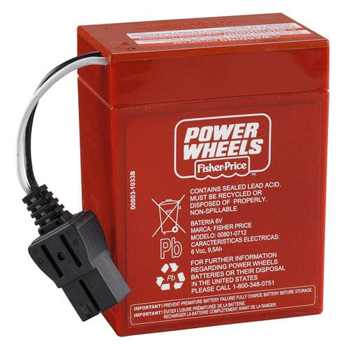 Power Wheels 6 volt Battery PACKAGE OF TWO (Red) Canada