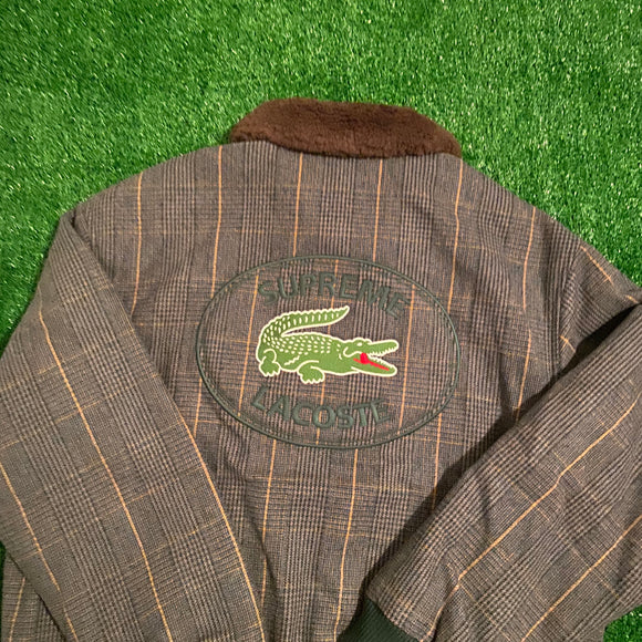 Supreme Lacoste Wool Bomber Plaid
