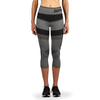 Women's Compression Mesh Capri Leggings - Grey/Black