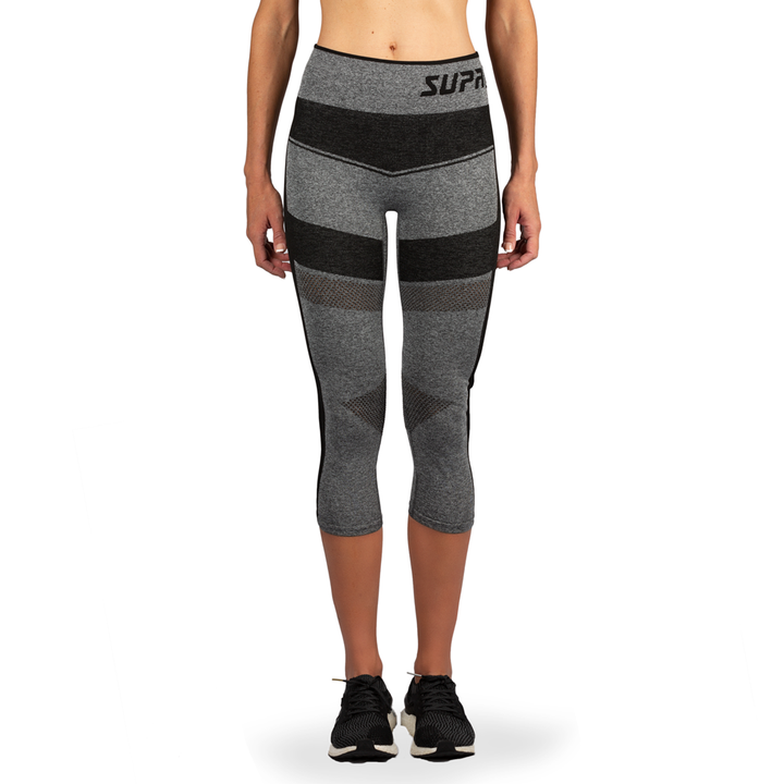 Women's Compression Mesh Capri Leggings - (MULTI COLOR)