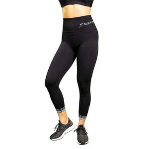 Patented CORETECH Vixen Postpartum Recovery 7/8 Legging ( Black and Blue)