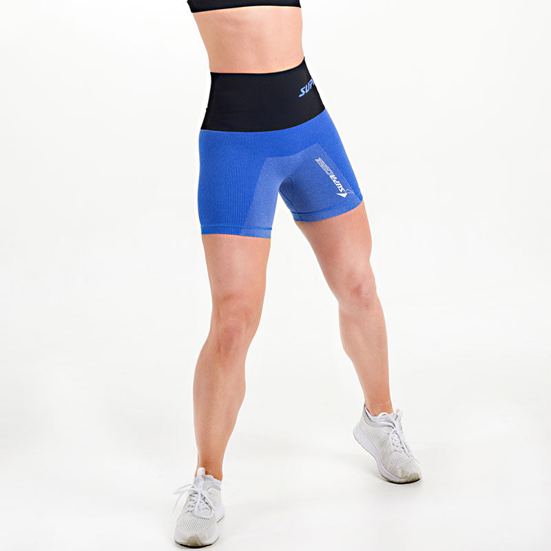 Patented Women's CORETECH® Injury Recovery and Postpartum Compression Shorts (Blue)