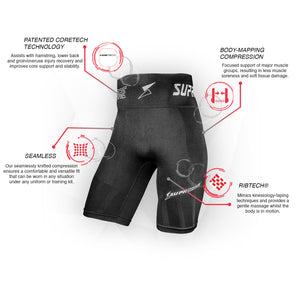 Patented CORETECH® Compression Shorts for groin, hamstring , OP, and hip related injury - Nude