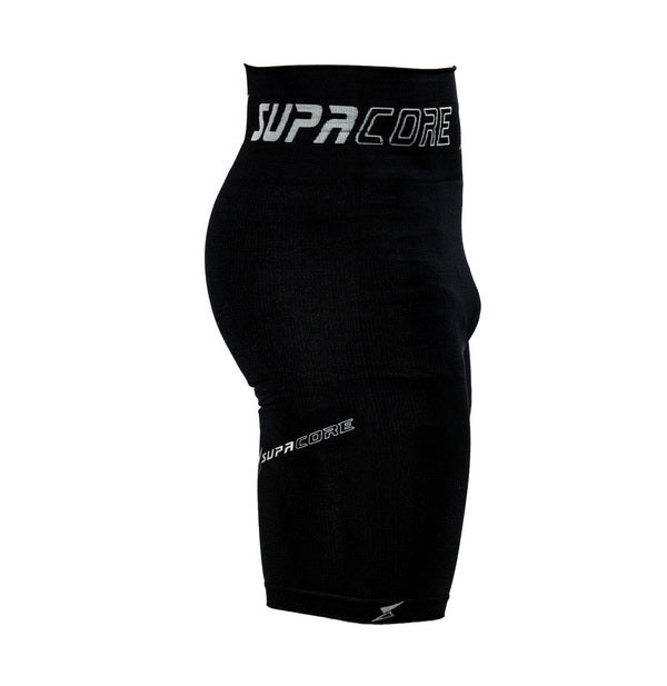 Patented Men's CORETECH® Compression Shorts for groin,hamstring , OP, and hip related injury - Black