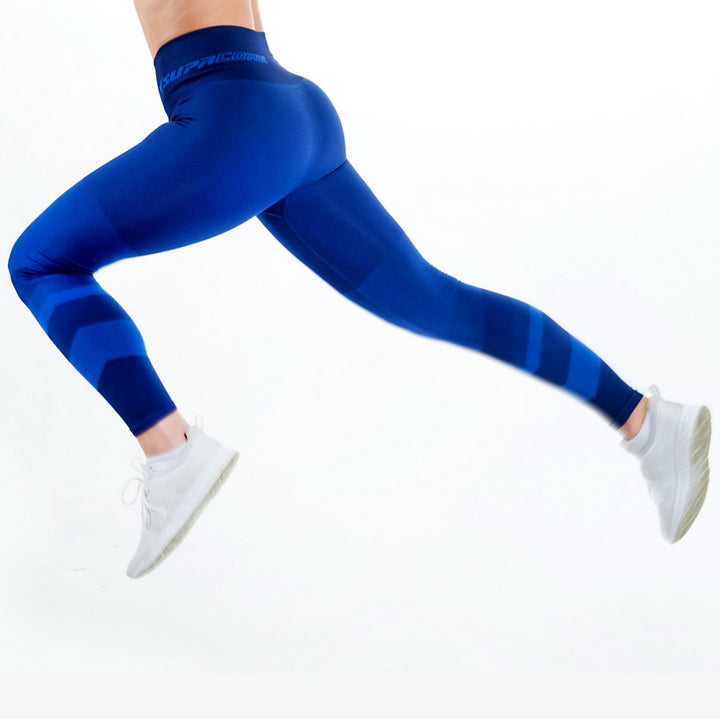 Patented Women's CORETECH® Injury Recovery and Postpartum Compression Leggings Blue