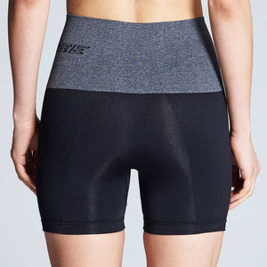 Patented CORETECH® Injury Recovery and Postpartum Compression Shorts (Black with Grey Waistband)