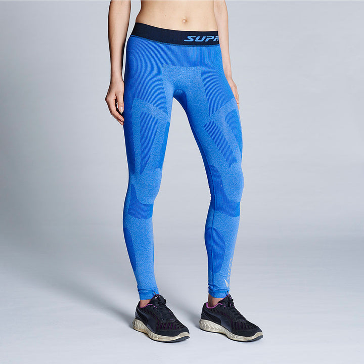 Women's Performance Training Compression Leggings (Blue Marle)