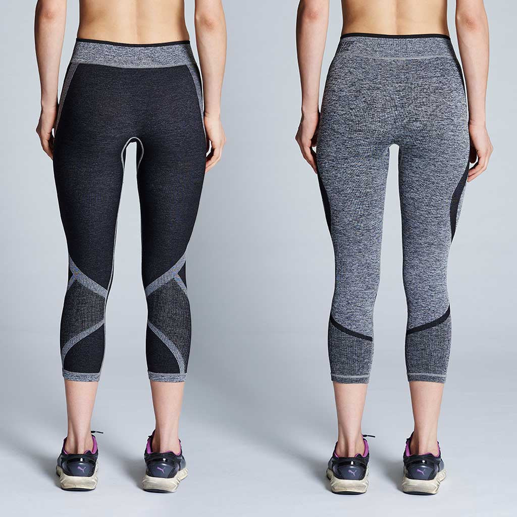 2bbdd1e7126cf Women's Reversible Training Capri Leggings (Grey Marle/Grey) – Supacore