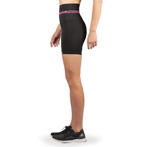 Patented Women's CORETECH® Injury Recovery and Postpartum Compression Shorts (Black with Pink Logo)