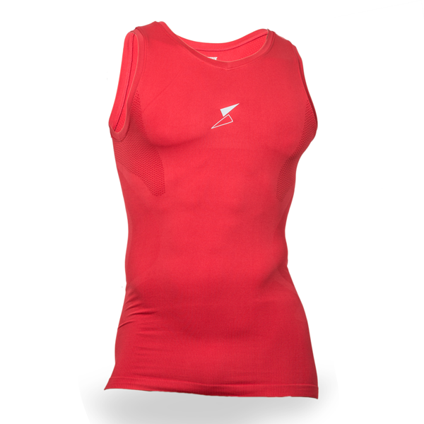 Unisex Training Sleeveless Compression Top Red