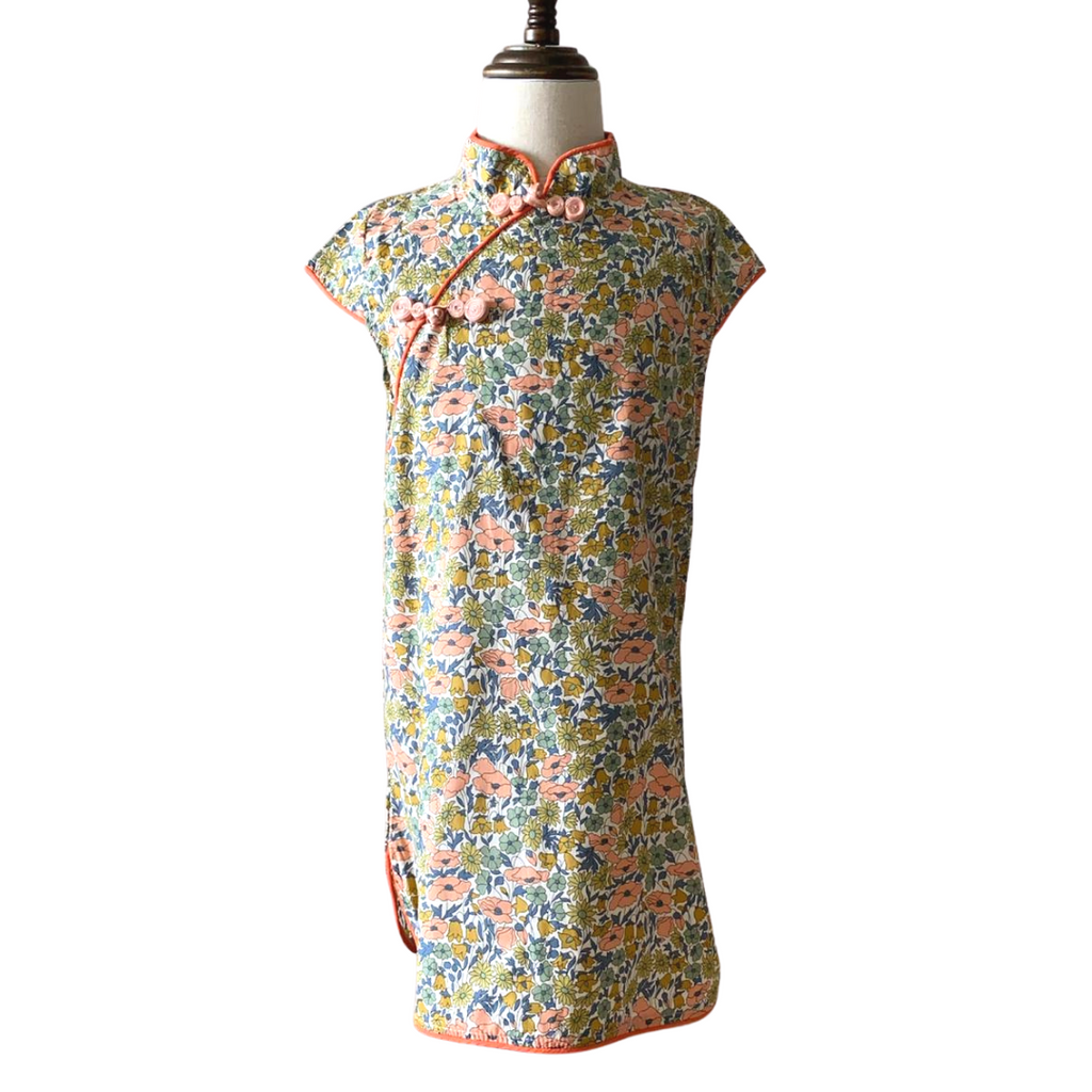 *NEW* Rustic Floral Fields Cheongsam (Up to 130cm)