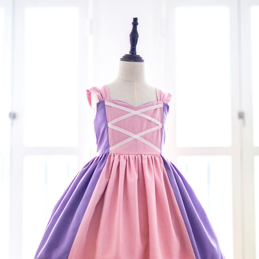 Enchanted Rapunzel - Sleeveless Mini Dress