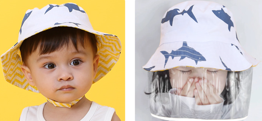 PRE-ORDER 2-in-1 Sunhat + Detachable Shield (NB to 10 yr old)