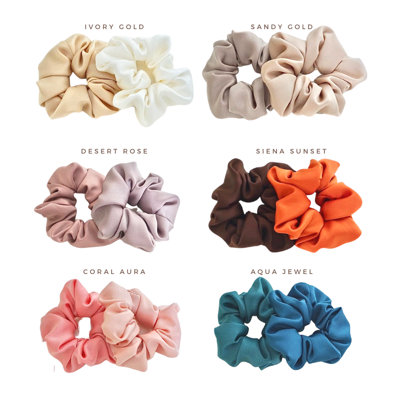 *NEW* Scrunchies Satin Duo - delivery from 23 Oct