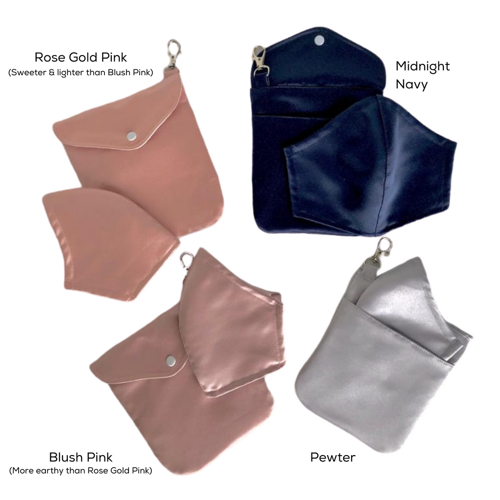 Satin Luxe Adult Mask + Pouch Set *Delivery from 25 Nov*