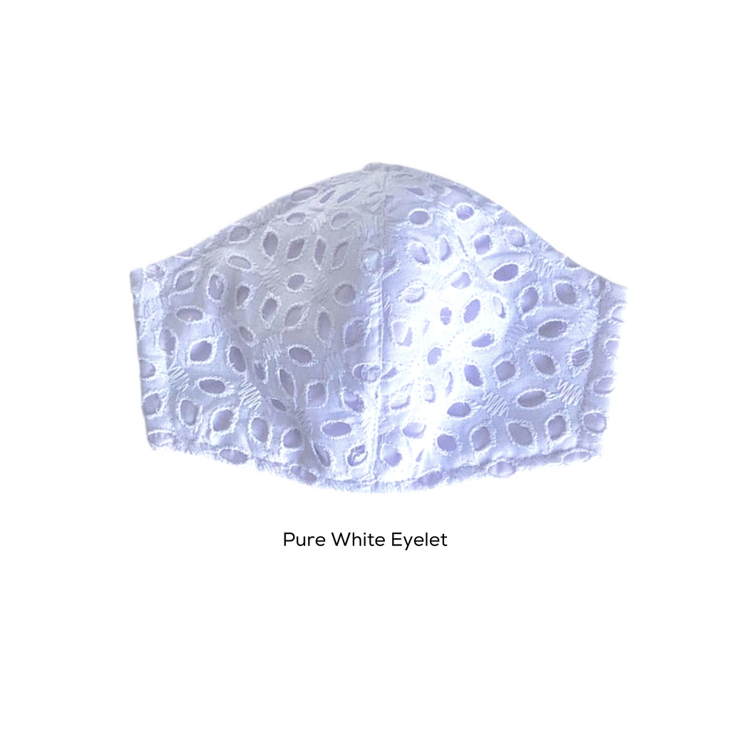Elizabeth Eyelet Lace Cotton Mask