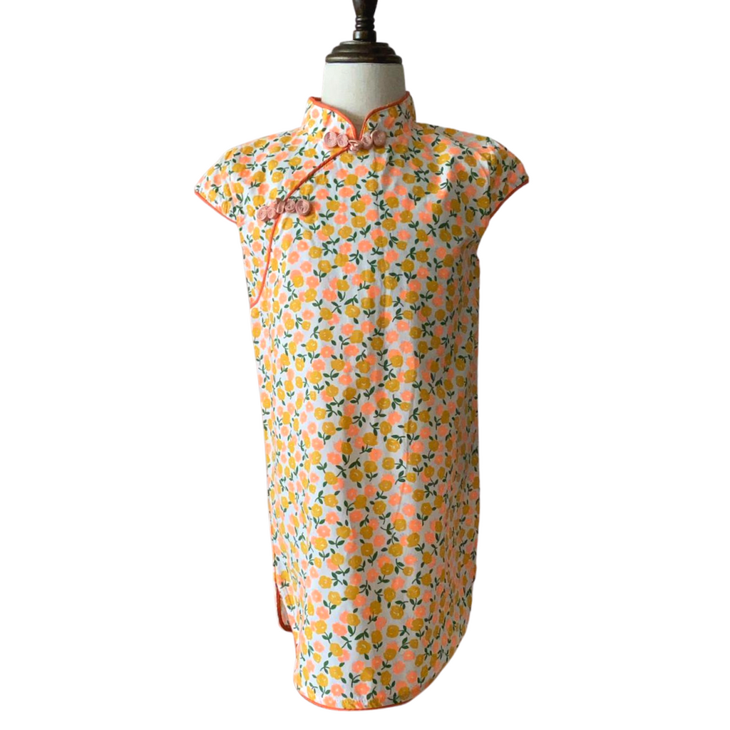 *NEW* Pop Floral Fields Cheongsam (Up to 130cm)