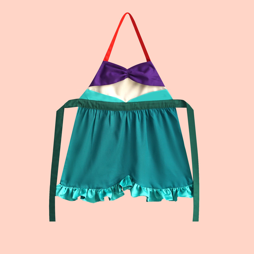 Petite Activity Apron - Aqua Mermaid